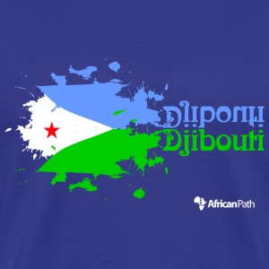 Royal blue Djibouti on Black Men - Men's Premium T-Shirt