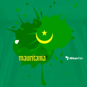 Bright green Mauritania Splash on Black Men - Men's Premium T-Shirt