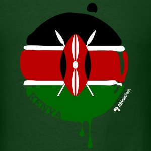 Forest green Kenya Drops on Black Men - Men's T-Shirt