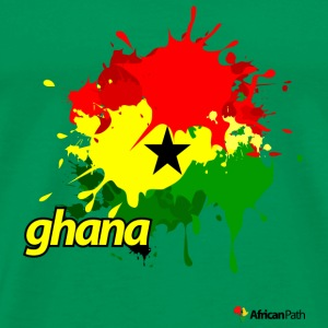 Bright green Ghana Splash Men - Men's Premium T-Shirt