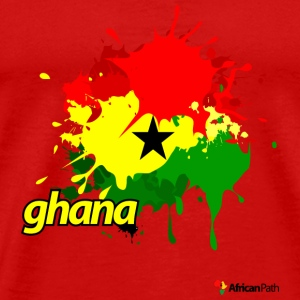 Red Ghana Splash Men - Men's Premium T-Shirt