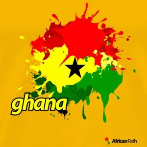 Yellow Ghana Splash Men - Men's Premium T-Shirt