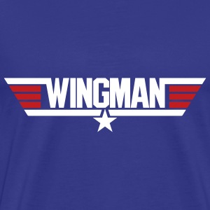 Royal blue Wingman Men - Men's Premium T-Shirt