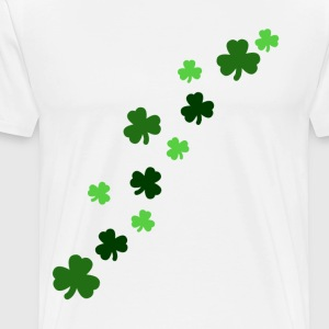 White Shamrock Design Men - Men's Premium T-Shirt