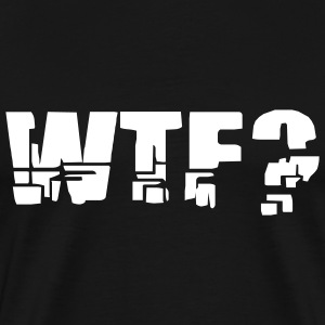 Black WTF? Men - Men's Premium T-Shirt