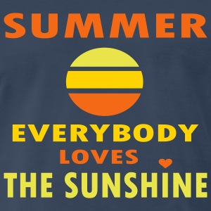 Navy Summer - Everybody Loves The Sunshine Men - Men's Premium T-Shirt