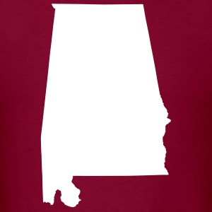 Burgundy White State of Alabama solid Men Men - Men's T-Shirt