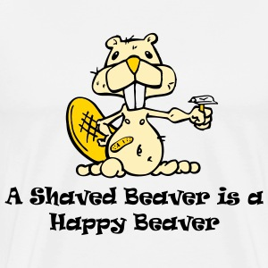 A Shaved Beaver... - Men's Premium T-Shirt