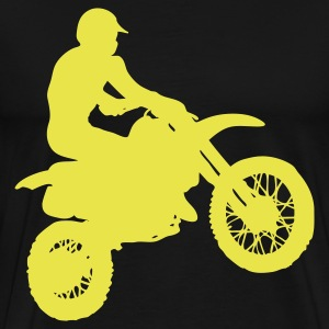 Black motocross Men - Men's Premium T-Shirt