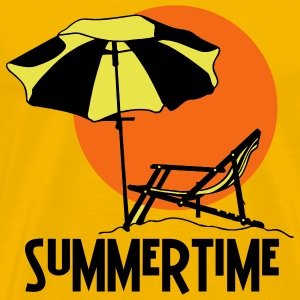 Yellow summertime Men - Men's Premium T-Shirt
