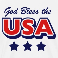 Natural God Bless the USA Stars Men