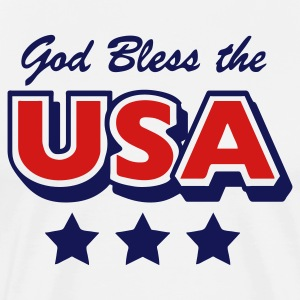 Natural God Bless the USA Stars Men - Men's Premium T-Shirt