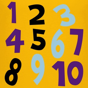 Yellow Numbers 1 - 10 Without Background Kids & Baby - Kids' Premium T-Shirt