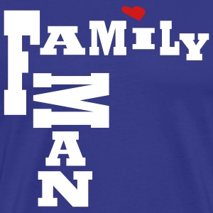 Royal blue Family Man, No Background Men - Men's Premium T-Shirt