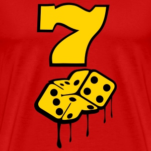 Red lucky_seven4 Men - Men's Premium T-Shirt