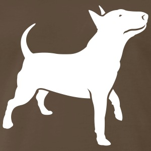 Chocolate dogz_bully_headup_ai T-Shirts (Short sleeve) - Men's Premium T-Shirt