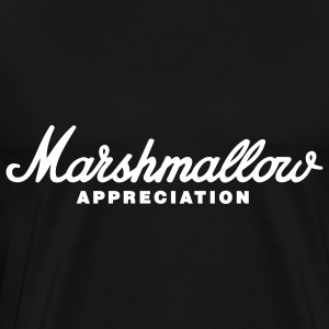 Black Marshmallow Appreciation T-Shirts - Men's Premium T-Shirt
