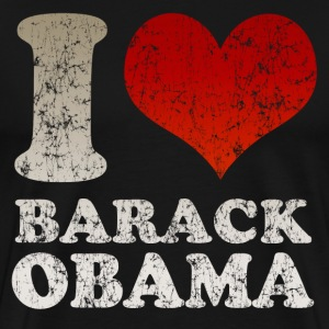 Black I love Barack Obama t shirt Men - Men's Premium T-Shirt