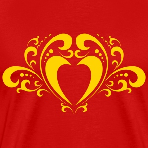 Red ornament_heart Men - Men's Premium T-Shirt