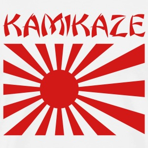 White Kamikaze Japanese Rising Sun Flag Men - Men's Premium T-Shirt