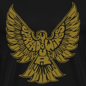 Black Spread Your Wings T-Shirts (Short sleeve) - Men's Premium T-Shirt