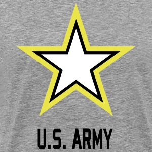 Army Star U.S. gray shirt for man - Men's Premium T-Shirt