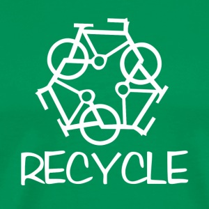 reCYCLE - white/green - Men's Premium T-Shirt