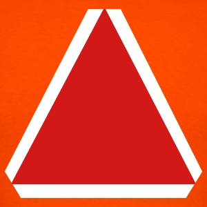 Orange slow moving vehicle sign T-Shirts (Short sleeve) - Men's T-Shirt