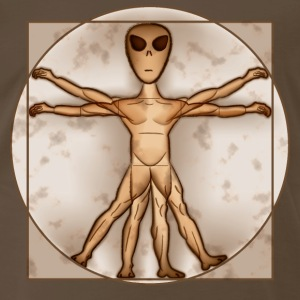 Vitruvian Alien - Men's Premium T-Shirt