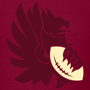Burgundy american_football_eagle T-Shirts (Short sleeve) - Men's T-Shirt