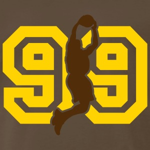 Chocolate basketballer_99er_jump T-Shirts (Short sleeve) - Men's Premium T-Shirt