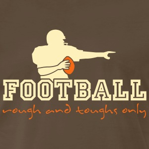 Chocolate american_football_ruff_n_tuffs_only T-Shirts (Short sleeve) - Men's Premium T-Shirt