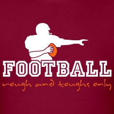 Burgundy american_football_ruff_n_tuffs_only T-Shirts (Short sleeve)