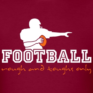 Burgundy american_football_ruff_n_tuffs_only T-Shirts (Short sleeve) - Men's T-Shirt