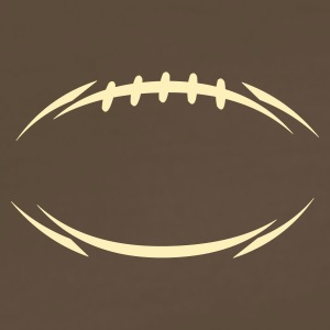 Chocolate american_football_modernstyle T-Shirts (Short sleeve) - Men's Premium T-Shirt