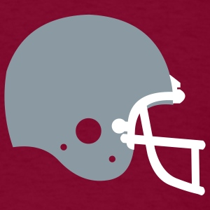 Burgundy american_football_helmet T-Shirts (Short sleeve) - Men's T-Shirt