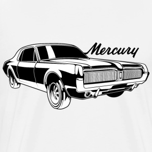 White auto_mercury_cougar_bw1 T-Shirts (Short sleeve) - Men's Premium T-Shirt