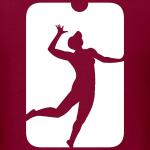 Burgundy volleyball_beachvolley_v2 T-Shirts (Short sleeve) - Men's T-Shirt