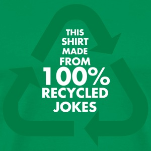 Bright green 100% Recycled Jokes Men - Men's Premium T-Shirt