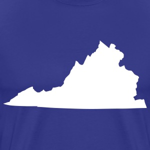 Royal blue State of Virginia solid Men - Men's Premium T-Shirt