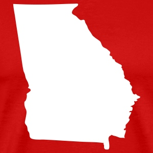 Red State of Georgia solid Men - Men's Premium T-Shirt