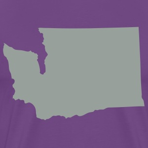 Purple State of Washington solid Men - Men's Premium T-Shirt