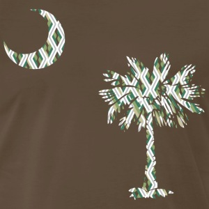 Chocolate SC Palmetto Flag - Green Diagonals Men - Men's Premium T-Shirt