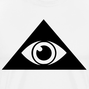 Natural All seeing eye pyramid Men - Men's Premium T-Shirt