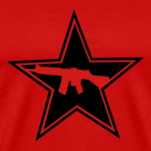 Red Armed Star Logo Men - Men's Premium T-Shirt