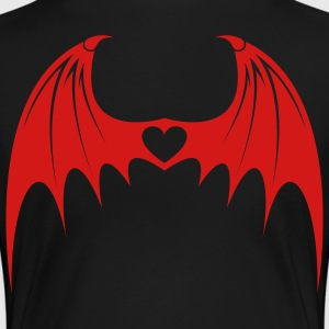 Black Bat Wings with Love Women - Women's Premium T-Shirt