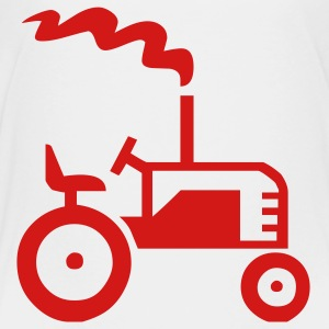 White Tractor Kids & Baby - Toddler Premium T-Shirt