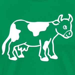 Bright green Baby cow calf Men - Men's Premium T-Shirt