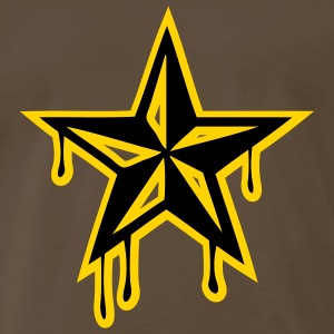 Chocolate nautic_star2 Men - Men's Premium T-Shirt