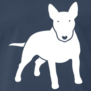 Navy dogz_minibull_v2 T-Shirts (Short sleeve) - Men's Premium T-Shirt